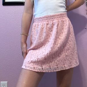 Adorable pink lace mini skirt from Candies!